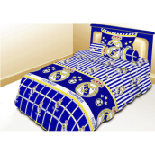 NYENYAK Real Madrid Fitted Sheet - Sprei Rumbai 120 x 200 - 1 Bantal 1 Guling