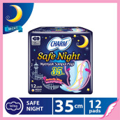 CHARM Pembalut Safe Night 35cm Wing 12 pads