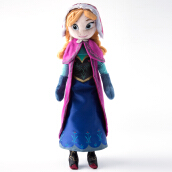 Jantens 40cm 2pcs/lot Plush Doll Toys Unique Gifts Cute Girls Toys Princess Anna& Elsa Doll Girl Birthday Gifts