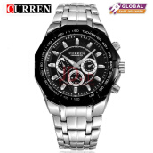 Curren 8084 Mens Watches Top Brand Luxury Stainless Steel Quartz Watch Men Casual Sport Clock Male Wristwatch