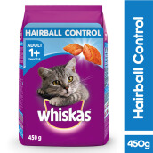 WHISKAS Dry 450gr Makanan Kucing Kering Hairball Control Rasa Chicken & Tuna