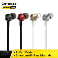 Remax Earphone Functional RM-610D Original Garansi Resmi / Earphone Murah / Earphone Terbaik / Earphone Remax / Earphone Musik T Black