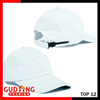 Gudang Fashion Topi Baseball Polos Katun Twill - White   TOP 12+A 9333b44aba