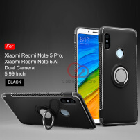 Calandiva Ring Carbon Kickstand Hybrid Premium Case for Xiaomi Redmi Note 5 , Redmi Note 5