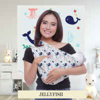 GEOS | JELLY FISH - INSTANT BABY WRAP (PRINTED PREMIUM FABRIC)