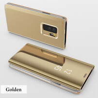 DELIVE Samsung Galaxy S7EDGE Slim Clear Mirror Case Stand Cover Luxury Leather Phone Cases Gold