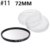 OPHA 72mm UV Ultra-Violet Filter Lens Protector For Camera Canon DSLR/SLR/DC/DV Black