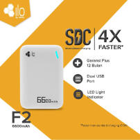 Hippo Power Bank Ilo F2 6600 mAh Simple Pack White