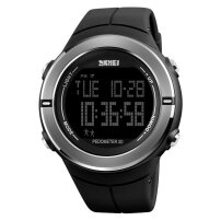 Men's New Vertical Double Eye Silicone Sports Watch Male Compass Outdoor silver