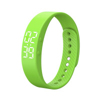 YUSHENG Smart Digital Wristwatches Pedometer Sports Wristband Watch Male and Female Temperature Display Students USB Watches Green