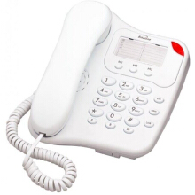 Binatone Lyris 110 Corded Home Desk Phone White - Easy to Use with Number Memory