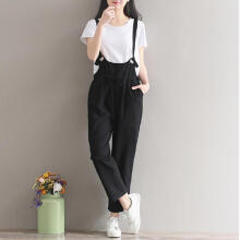 Women Loose Casual Baggy Jumpsuit Strap Bib Pants Trousers Overall Harnes Pants_XXL