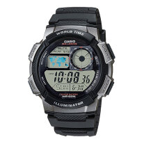 Casio AE-1000W-1BVDF - 10 Year Battery - Water Resistance 100M Black Resin Band [AE-1000W-1BVDF]