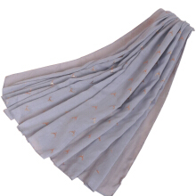 LAVEN pastoral style small elk cotton and linen hot women's scarf