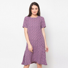 A&D Midi Dress Ms 1097 - Pink Ploral