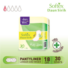 SOFTEX Pantyliner Daun Sirih Longer Wider 30s