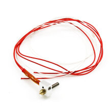 [kingstore]12V 40W MK8 Extruder Nozzle For 3D Printer 0.4mm Nozzle 30mm Extruder Throat Red Red