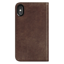 Case iPhone XS Max Nomad Leather Folio Genuine Leather Casing - Brown