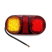 Two-color Oval Taillight LED Tail Lights Stop Brake Indicator Submersible Boat 12V