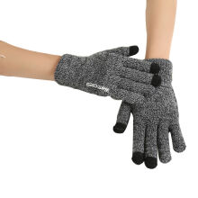 SiYing Fashion Warm knitted non-slip ladies wool gloves Dark Grey