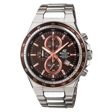 Casio Edifice CHRONOGRAPH EF-546D-5AVUDF Brown Dial Stainless Steel Watch [EF-546D-5AVUDF]