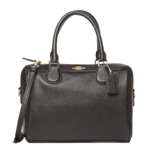 Coach Women's Black Leather Shoulder Handbag F32202IMBLK