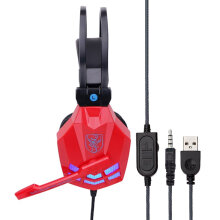 COZIME Professional Stereo Bass Headphone Headset Computer Gaming With Mic Red