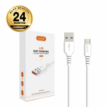 VIDVIE Type-C USB Cable CB417 / Kabel Data / Fast Charging - White