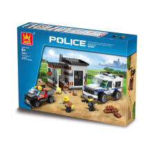 Wange Bricks 52011 Police White Blue