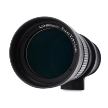 420 - 800MM Super Telephoto Manual Lens with Adapter for Canon EOS EF Camera  - Black