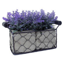 JYSK Bunga Artifisial - Artificial Flower Lavender With Iron Vase Medium Purple