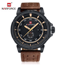 NAVIFORCE Watch Man Luxury Brand Relogio Masculino Fashion Military Leather Quartz Wristwatch
