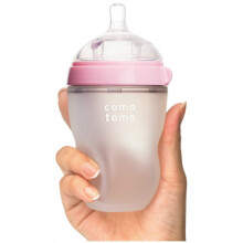 Comotomo Soft Hygienic Silicone Baby Bottle 250ml with Slow Flow Nipple 3m+ - Pink