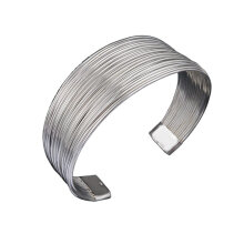 [OUTAD] YDH Popular Jewelry Mesh Cuff Bracelets Open End Bangle Bracelets Jewelry Gift Silver