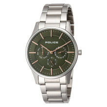 Police Courtesy PL.14701JS/53M Men Green Olive Dial Stainless Steel Watch [PL.14701JS/53M]