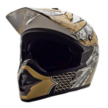 Cargloss MXC AJR ICE Brown Helm Motocross - Super W White
