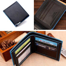 Zanzea 0051US Men Leather Business Bifold Wallet Money Card Holder Phote Bag Purse Pocket
