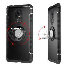 RockWolf Xiaomi Redmi 5 case silicone metal ring shell magnetic bracket shell