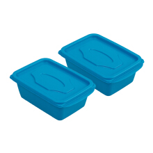 VICTORYHOME Food Box 500ml Set of 2- Blue Solid (Both of)