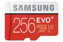 Samsung MMC Evo Plus SD Card plus Adaptor Original 256 GB