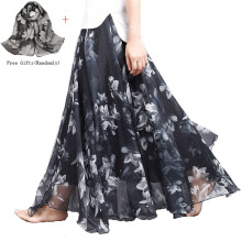 Anamode Women Bohemia Skirts Floral Printed Skirt Long Maxi Beach Loose Flare Clothes - One Size