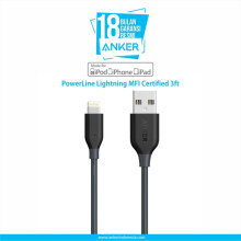 [free ongkir]ANKER PowerLine Lightning Mfi Certified 3ft/0.9m - Gray [A8111H11] Grey