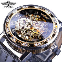 Famous Brand Winner Luxury Top Brand Men's Watches Male Manual Mechanical Watch Male Fashion Luminous Hollow Wristwatch Business Clock for Men