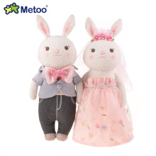 2pcs/pair original Metoo Tiramitu Wedding Rabbit Plush Toys Couples rose