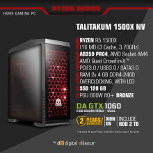 DIGITAL ALLIANCE Talitakum 1500X NV with 2TB HDD - Black