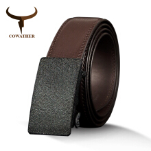 COWATHER Cow Genuine Leather Men's Belt Cowhide Belts for Men High Quality