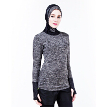 SPECS ESORRA BASELAYER LS W - HEATHER BLACK (WITHOUT HIJAB)