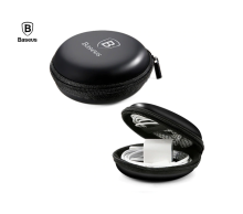 JMS - 1Pcs Baseus Headphone Earphone Cable USB Case Storage Hard Bag Mini for Car / Travel