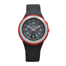 LORUS Jam Tangan Wanita - Black Red - Silicon - R2303MX9