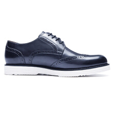AOKANG 2018 New Arrival men shoes leather genuine shoes man high quality brogue shoes comfortable dress shoes navy